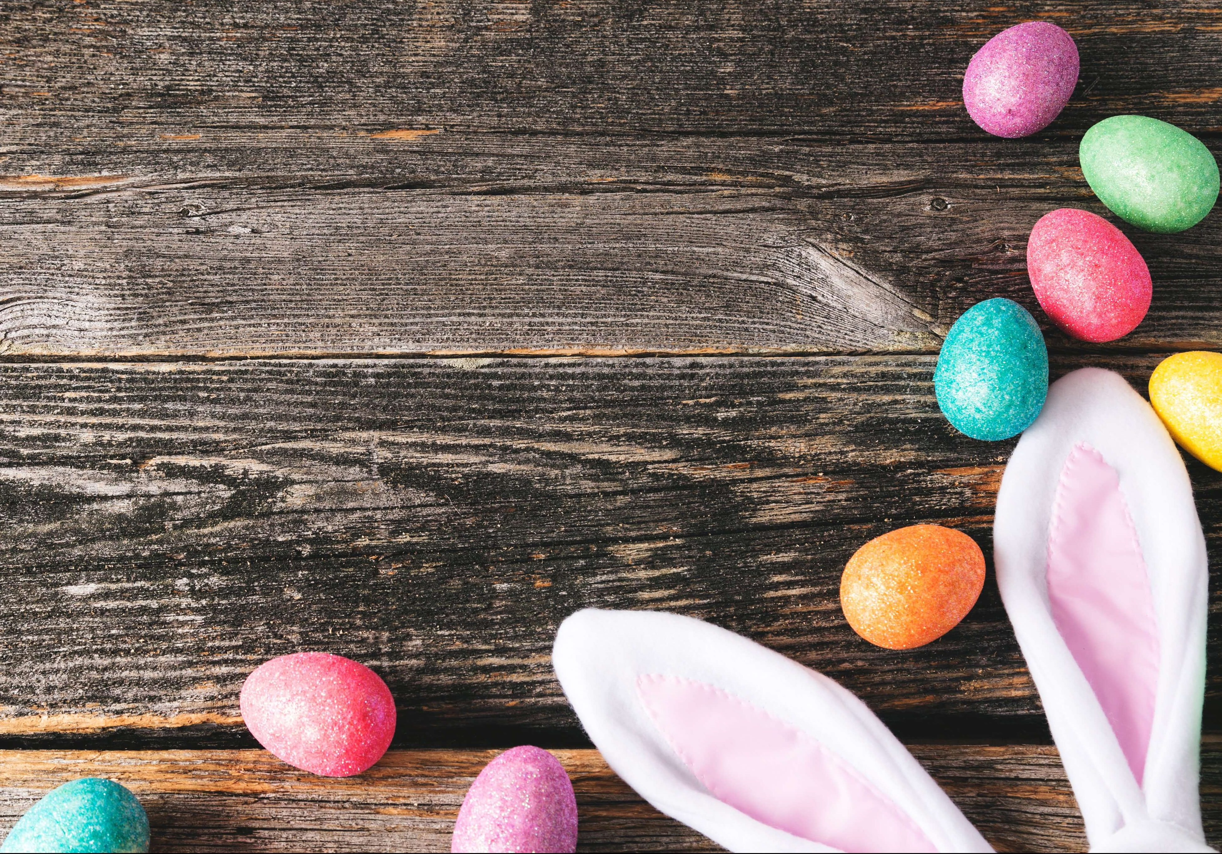 Image fro the blog Easter at Time for Forgiving and New Beginning. Easter bunny and easter eggs.